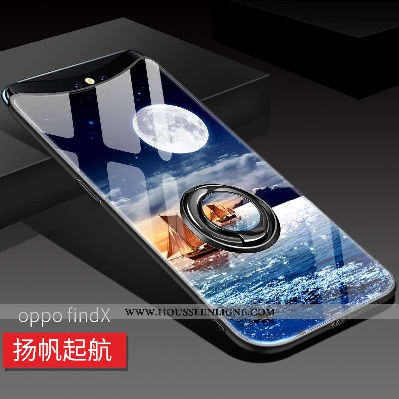 Coque Oppo Find X Ultra Légère Délavé En Daim Tout Compris Bleu Incassable Téléphone Portable