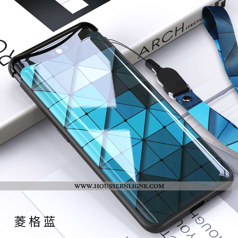 Coque Oppo Find X Verre Ultra Magnétisme Net Rouge Tout Compris Protection Bleu