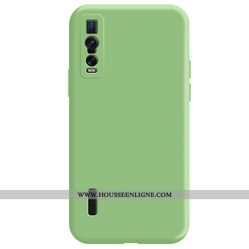 Coque Oppo Find X2 Pro Légère Fluide Doux Délavé En Daim Téléphone Portable Incassable Net Rouge Ver