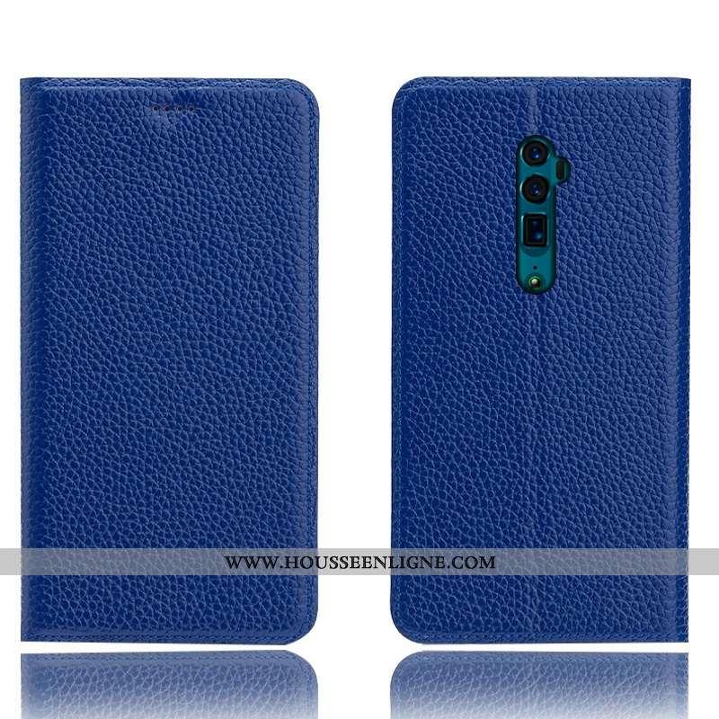 Coque Oppo Reno 10x Zoom Cuir Véritable Protection Tout Compris Téléphone Portable Étui Incassable B