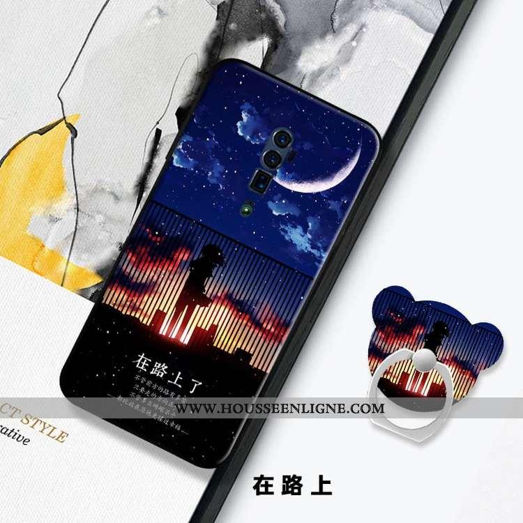 Coque Oppo Reno 10x Zoom Personnalité Fluide Doux Téléphone Portable Membrane Tempérer Étui Protecti