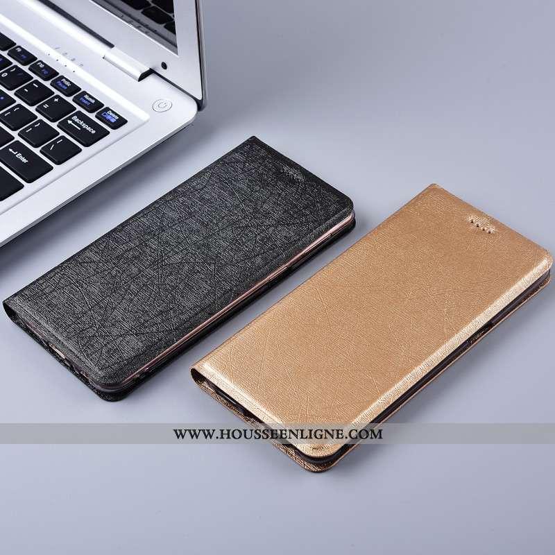 Coque Oppo Reno 10x Zoom Protection Cuir Soie Téléphone Portable Or Tout Compris Doré