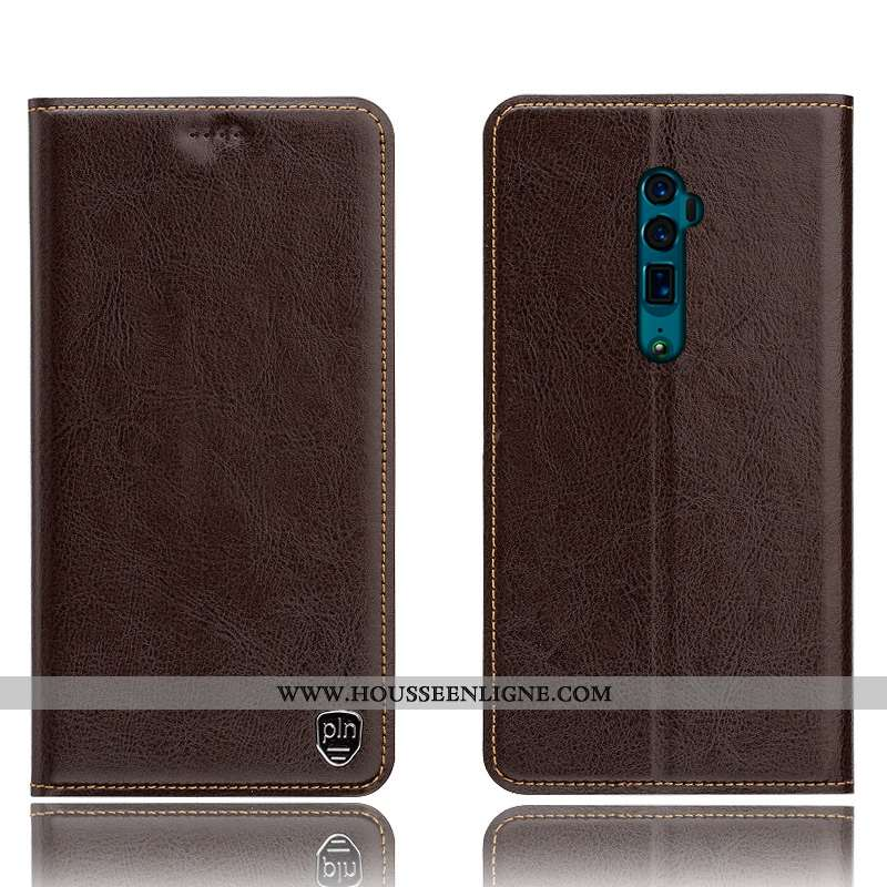 Coque Oppo Reno 10x Zoom Protection Cuir Véritable Incassable Étui Modèle Fleurie Téléphone Portable