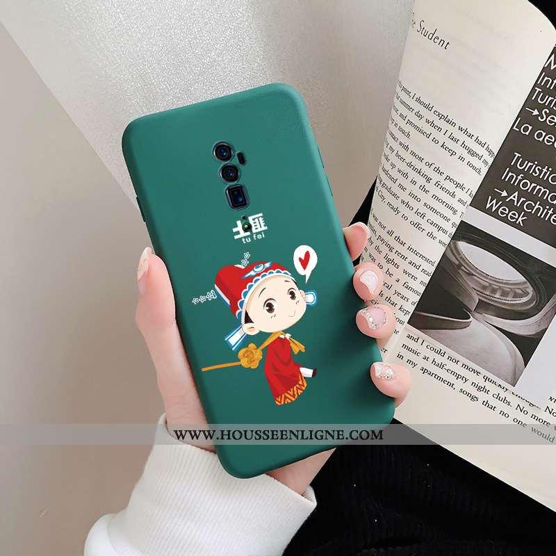 Coque Oppo Reno 10x Zoom Silicone Personnalité Téléphone Portable Fluide Doux Créatif Vert Verte