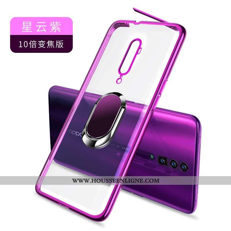 Coque Oppo Reno 10x Zoom Transparent Créatif Incassable Silicone Violet Légère Protection
