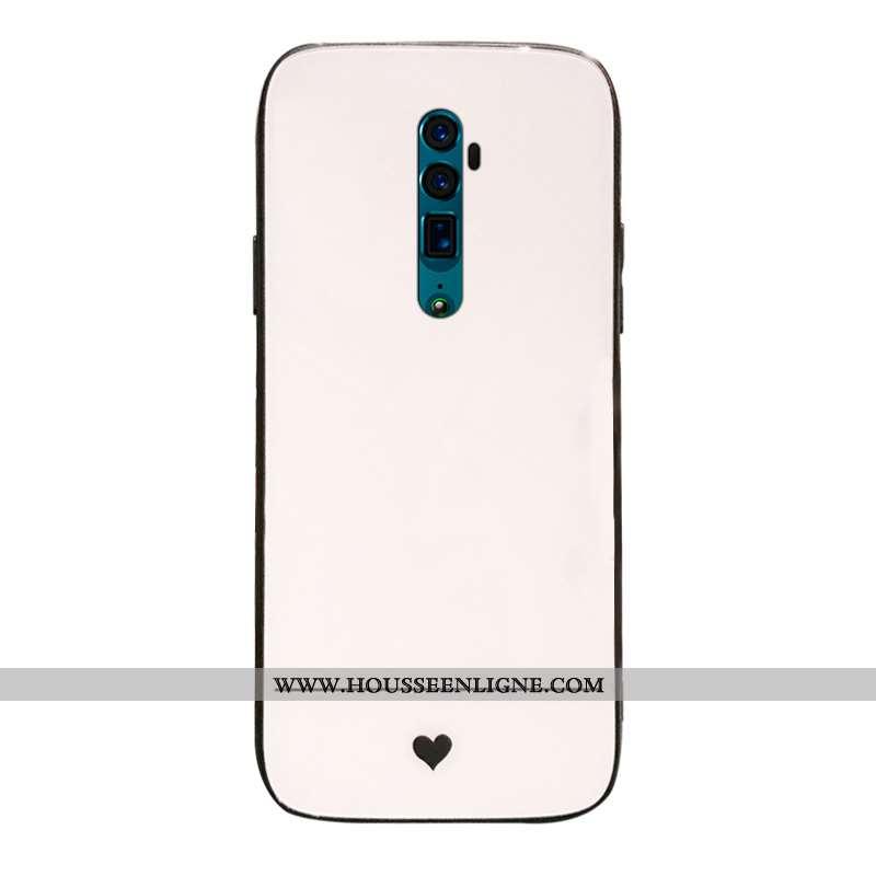 Coque Oppo Reno 10x Zoom Verre Étui Difficile Incassable Téléphone Portable Support Beige