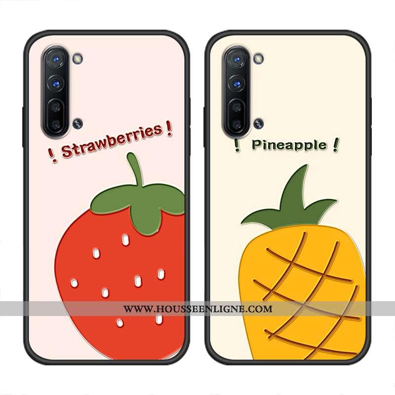 Coque Oppo Reno 3 Gaufrage Charmant Silicone Téléphone Portable Incassable Étui Jaune