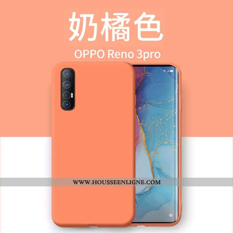 Coque Oppo Reno 3 Pro Légère Silicone Incassable Créatif Ultra Étui Orange