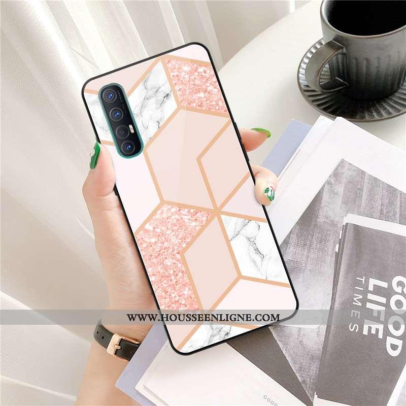 Coque Oppo Reno 3 Pro Personnalité Créatif Tendance Téléphone Portable Rose Étui