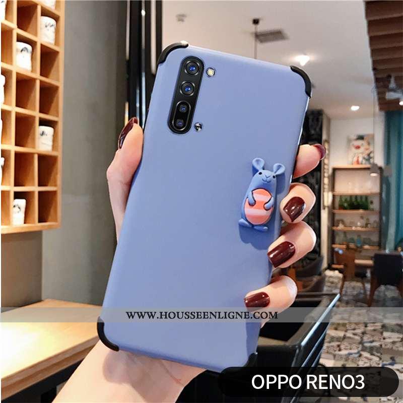 Coque Oppo Reno 3 Protection Personnalité Modèle Fleurie Dimensionnel Téléphone Portable Amoureux Bl