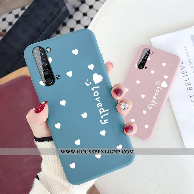 Coque Oppo Reno 3 Silicone Protection Amour Bleu Téléphone Portable Tout Compris Incassable