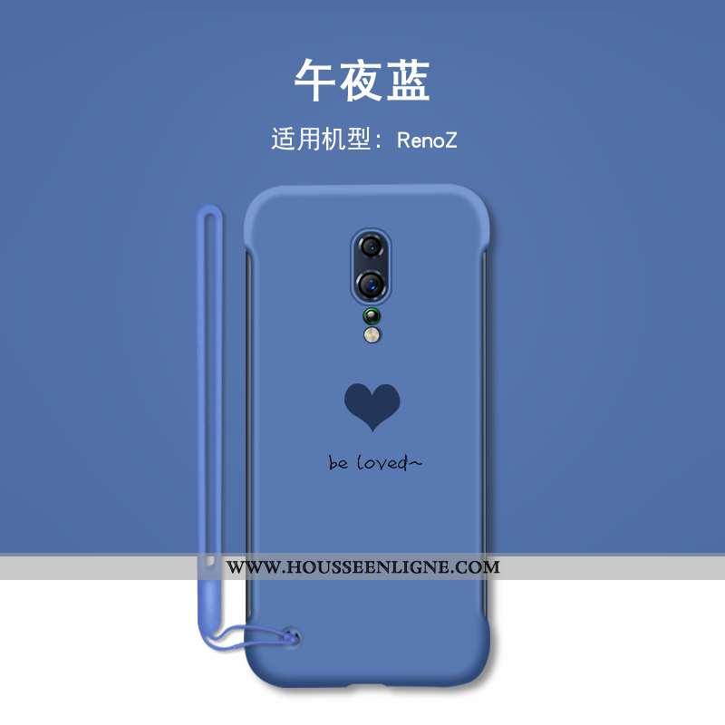 Coque Oppo Reno Z Créatif Tendance Personnalité Border Téléphone Portable Amour Incassable Bleu