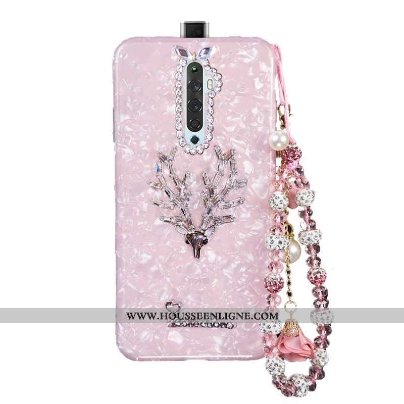 Coque Oppo Reno2 Fluide Doux Protection Nouveau Tendance Téléphone Portable Cristal Rose