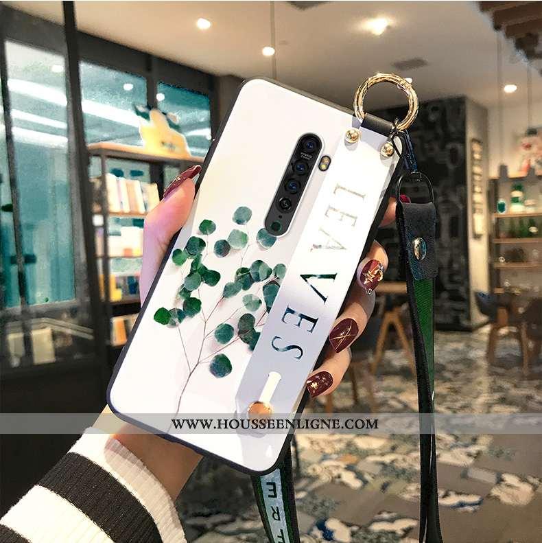 Coque Oppo Reno2 Ornements Suspendus Protection Téléphone Portable Vert Incassable Étui Verte