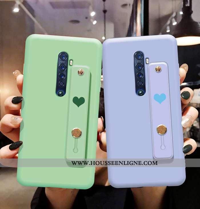 Coque Oppo Reno2 Protection Fluide Doux Téléphone Portable Simple Étui Incassable Bleu