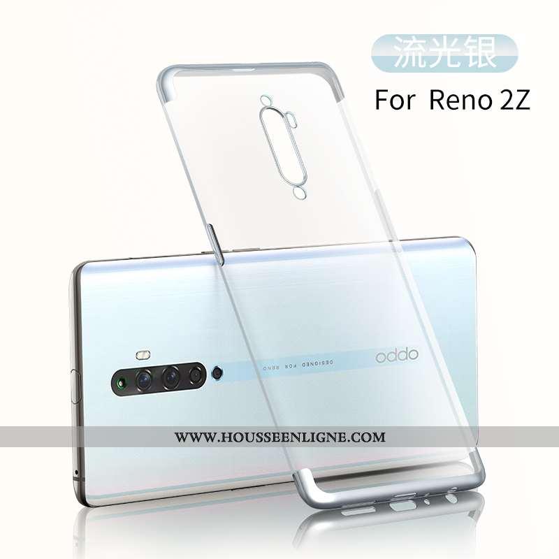 Coque Oppo Reno2 Z Silicone Transparent Haute Légère Tout Compris Net Rouge Argent