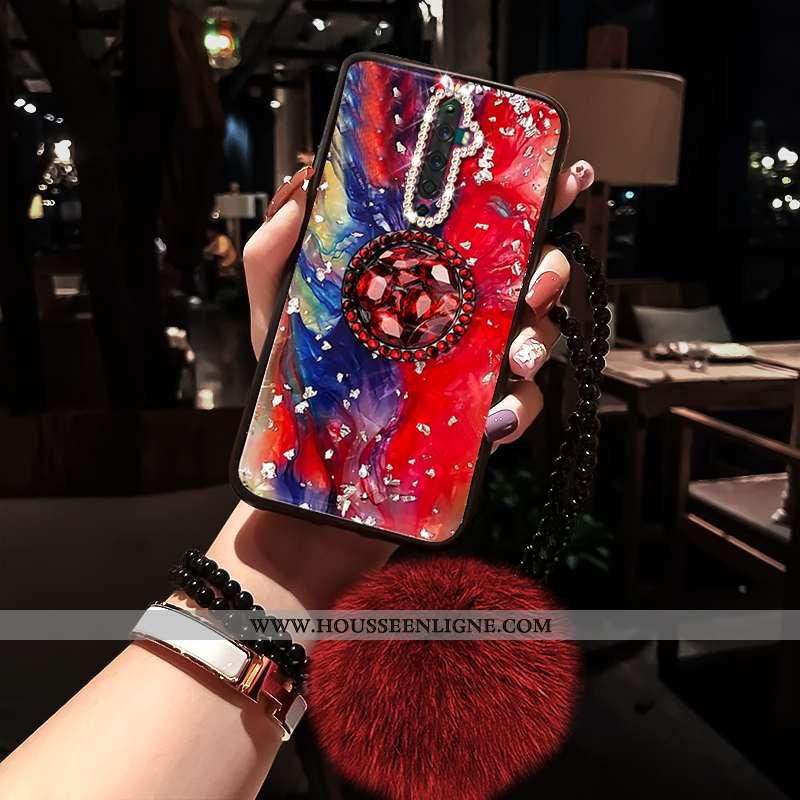 Coque Oppo Reno2 Z Tendance Fluide Doux Rouge Nouveau Incassable Net Rouge