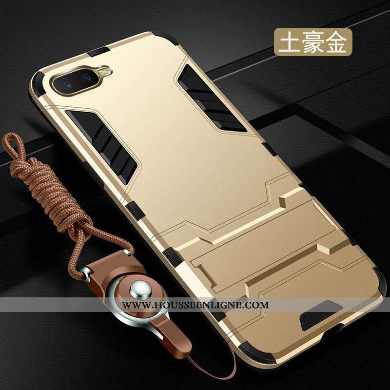 Coque Oppo Rx17 Neo Protection Créatif Anneau Téléphone Portable Nouveau Étui Incassable Doré