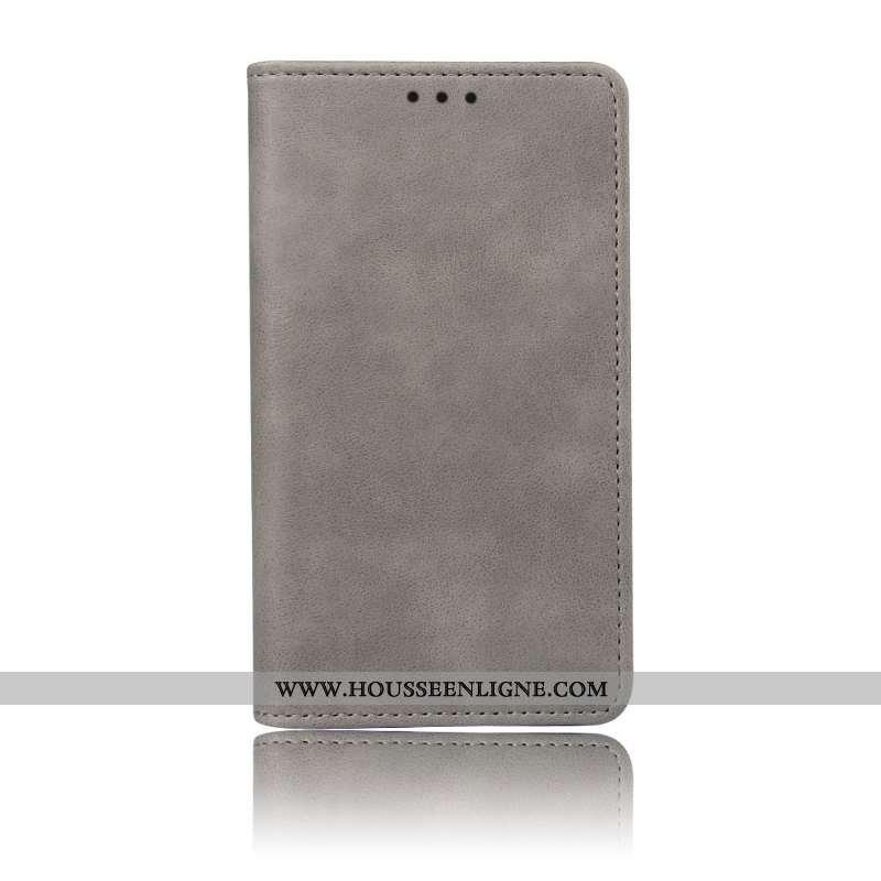 Coque Oppo Rx17 Neo Protection Modèle Fleurie Gris Téléphone Portable Carte Support
