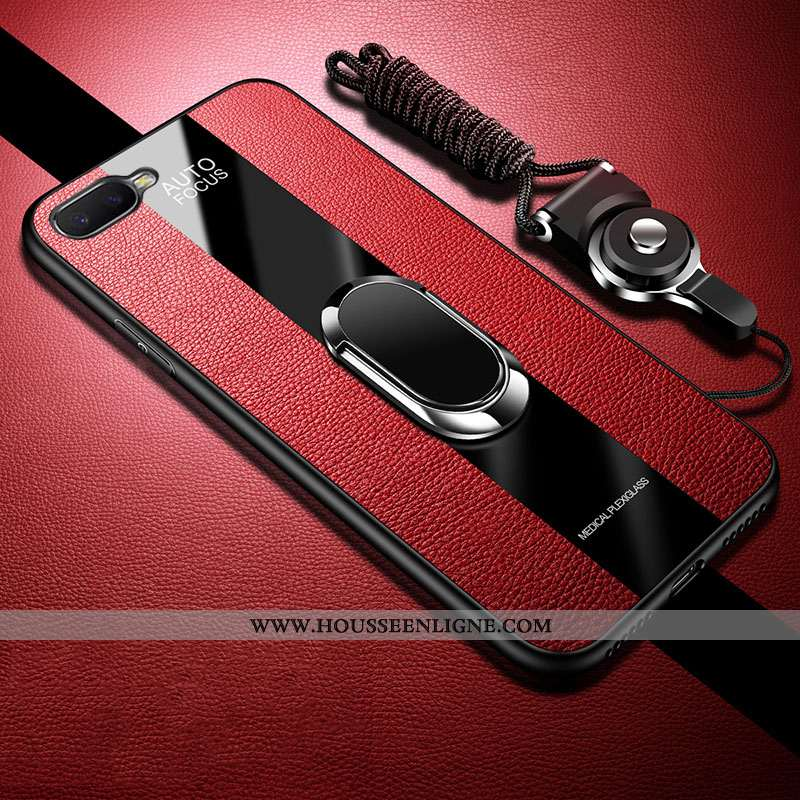 Coque Oppo Rx17 Neo Silicone Mode Téléphone Portable Protection Étui Business Rouge