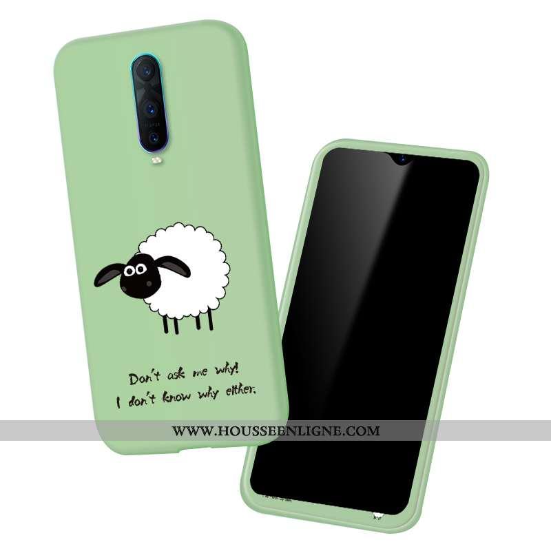 Coque Oppo Rx17 Pro Fluide Doux Silicone Vert Mode Dessin Animé Protection Verte
