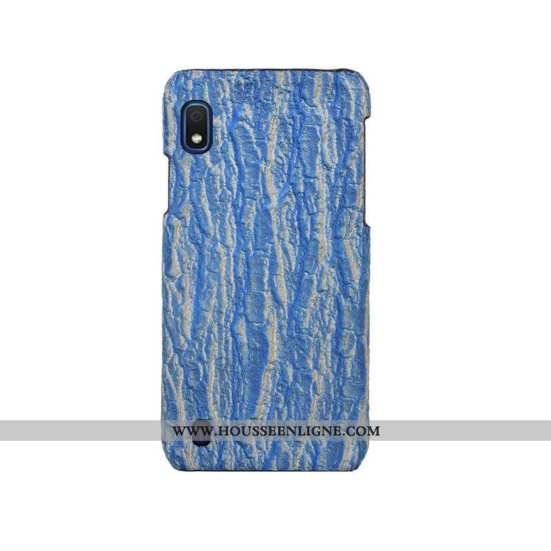 Coque Samsung Galaxy A10 Mode Protection Nouveau Personnalité Personnalisé Cuir Arbres Bleu