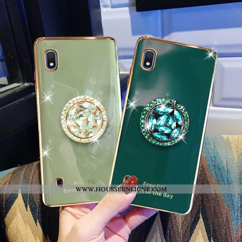Coque Samsung Galaxy A10 Silicone Protection Tout Compris Étoile Vert Incassable Placage Verte