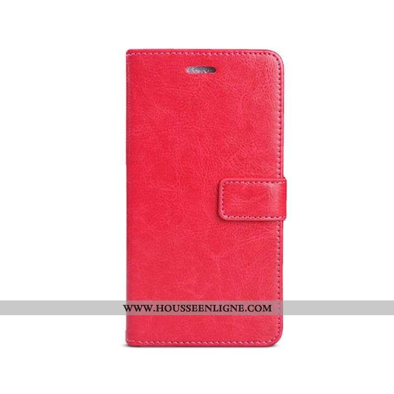 Coque Samsung Galaxy A20e Portefeuille Cuir Étui Étoile Téléphone Portable Business Incassable Rouge
