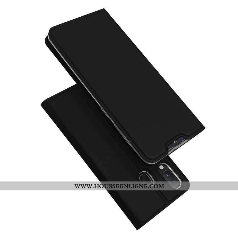 Coque Samsung Galaxy A20e Protection Cuir Étoile Étui Téléphone Portable Incassable Noir