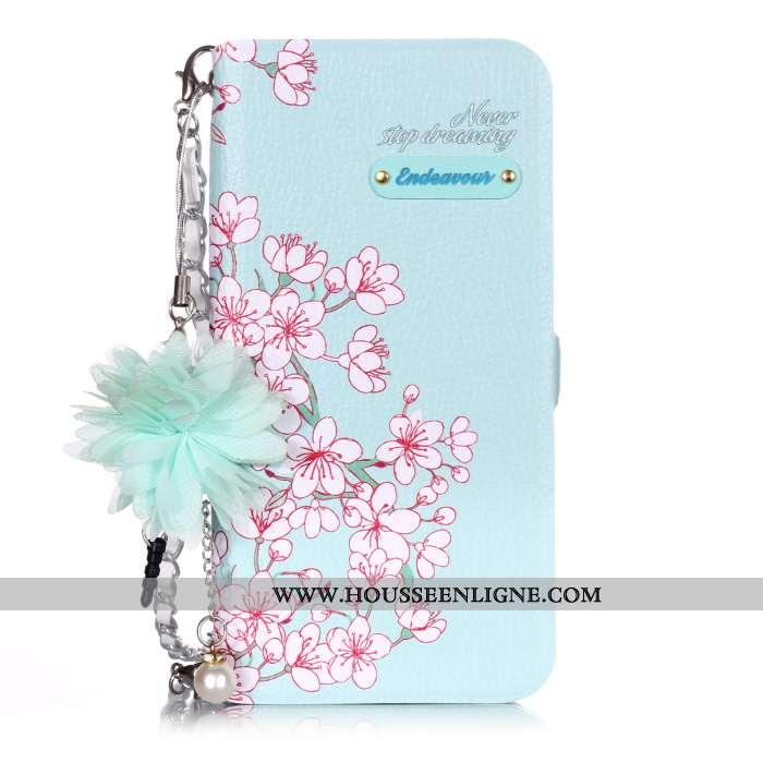 Coque Samsung Galaxy A20e Protection Cuir Étoile Téléphone Portable Étui Tout Compris Housse Bleu