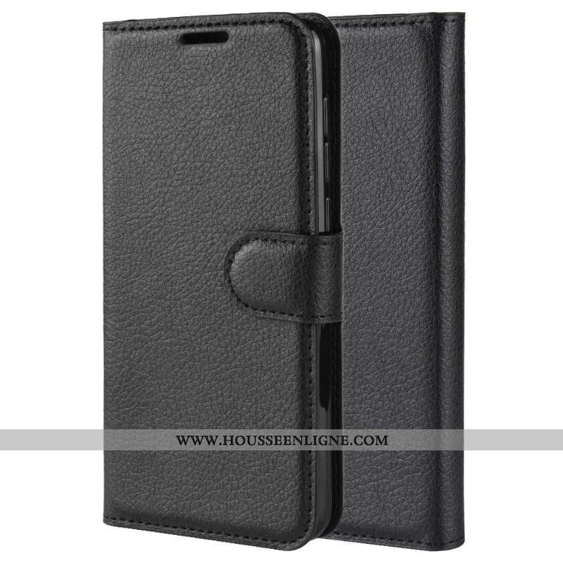Coque Samsung Galaxy A20e Protection Cuir Étui Étoile Modèle Fleurie Téléphone Portable Noir