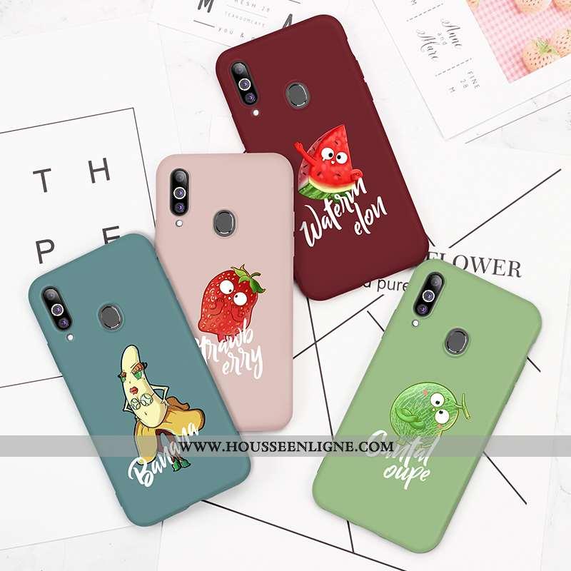 Coque Samsung Galaxy A20s Personnalité Créatif Silicone Net Rouge Incassable Étui Protection Verte