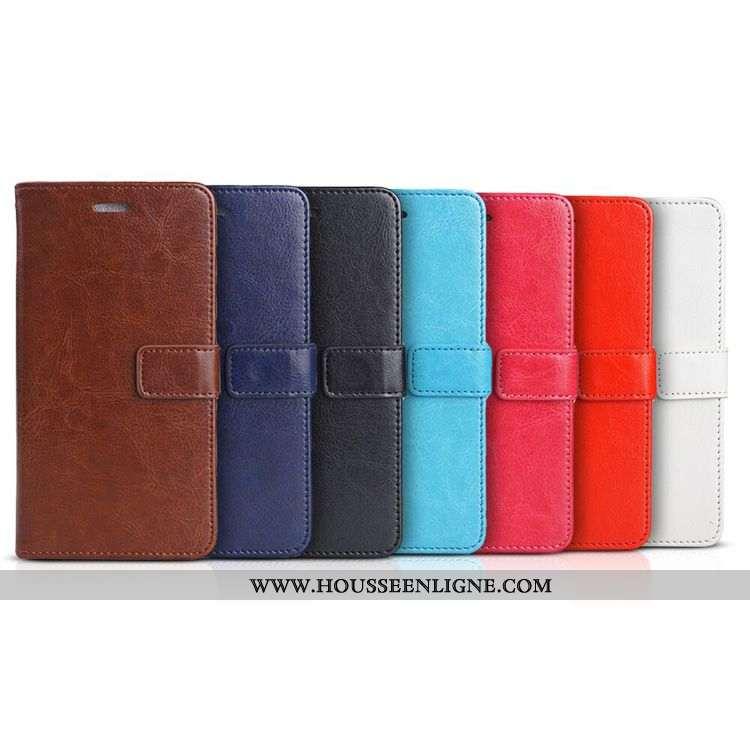 Coque Samsung Galaxy A20s Portefeuille Cuir Business Marron Téléphone Portable Étui
