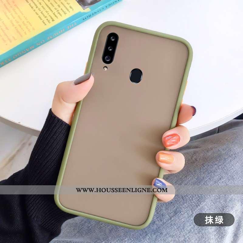 Coque Samsung Galaxy A20s Silicone Délavé En Daim Fluide Doux Tout Compris Étoile Personnalité Télép