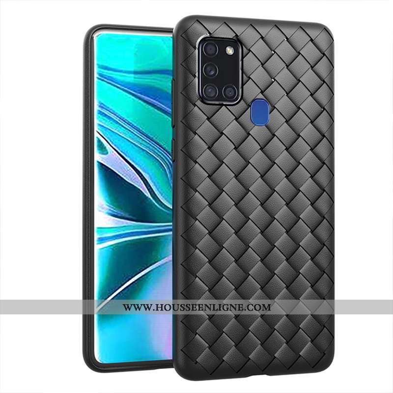 Coque Samsung Galaxy A21s Créatif Étoile Incassable Noir Refroidissement Respirant