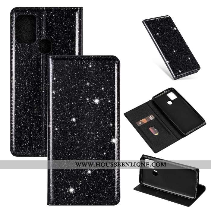 Coque Samsung Galaxy A21s Silicone Cuir Incassable Téléphone Portable Tout Compris Étoile Noir