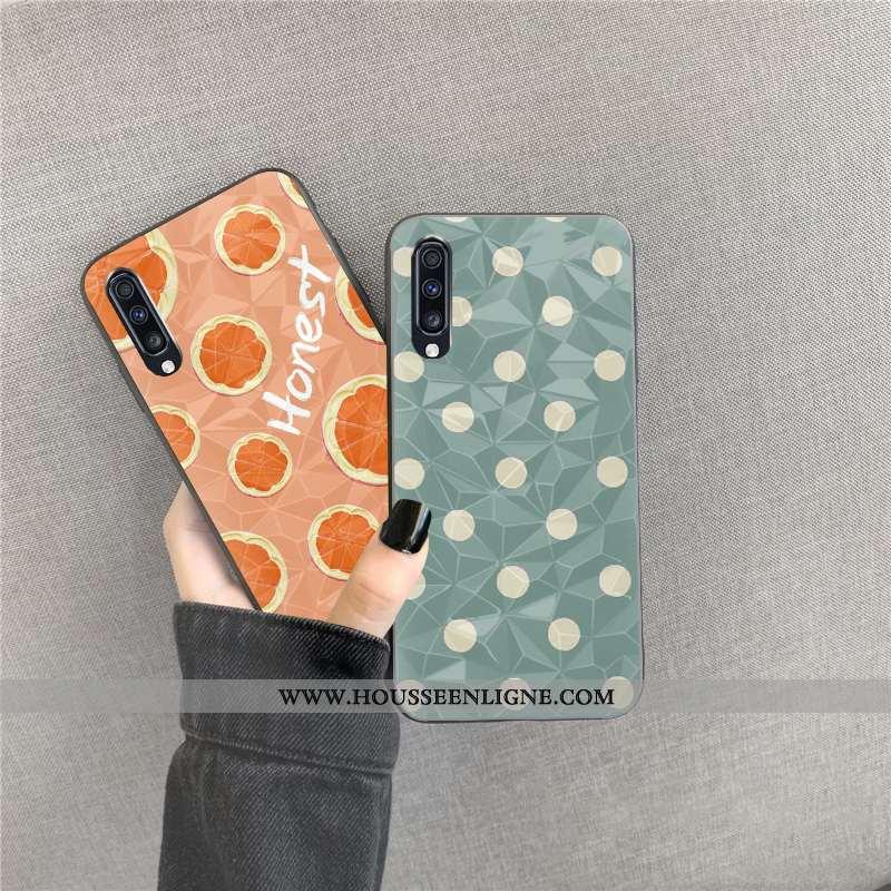 Coque Samsung Galaxy A30s Fluide Doux Losange Cœur Bleu Téléphone Portable Point D'onde