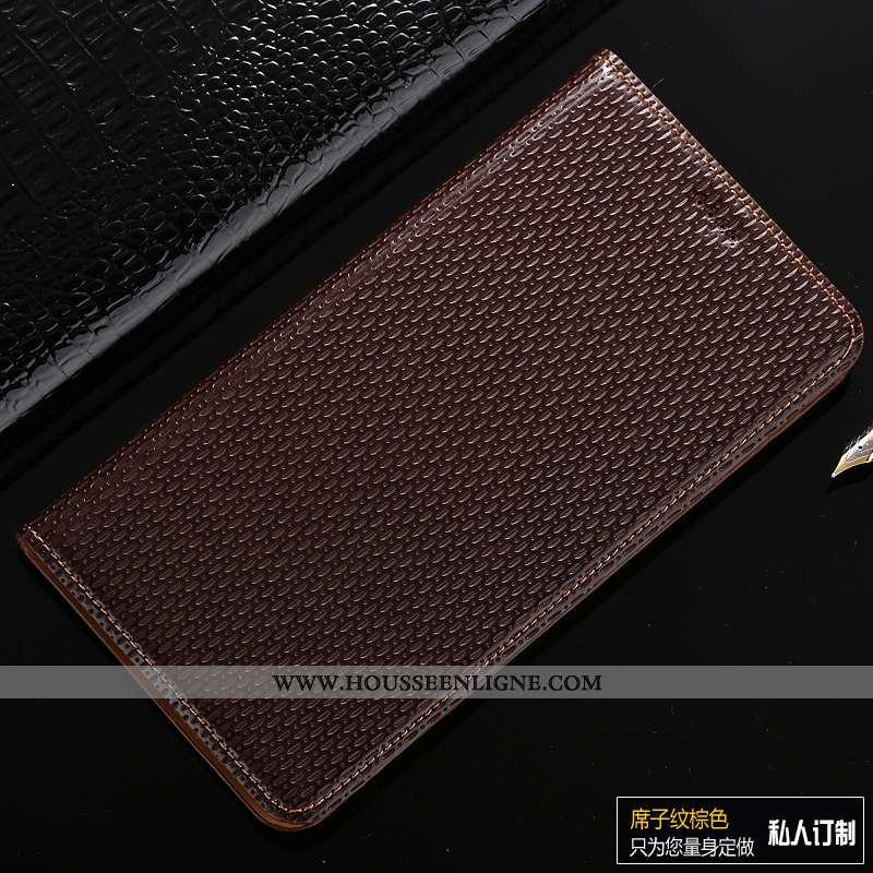 Coque Samsung Galaxy A40 Cuir Véritable Protection Marron Étoile Étui Incassable