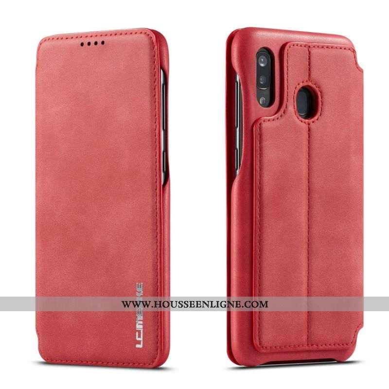 Coque Samsung Galaxy A40 Protection Tendance Rouge Étoile Tout Compris Clamshell Téléphone Portable