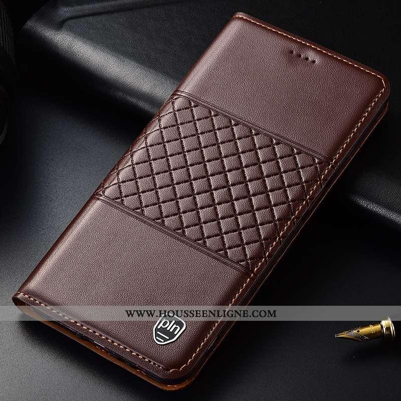Coque Samsung Galaxy A40s Cuir Véritable Protection Étoile Marron Tout Compris Plaid Téléphone Porta