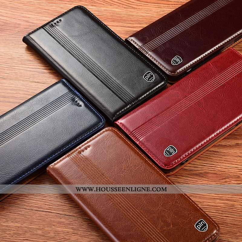 Coque Samsung Galaxy A41 Cuir Véritable Protection Étoile Téléphone Portable Housse Tout Compris Noi