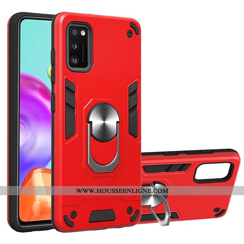 Coque Samsung Galaxy A41 Protection À Bord Rouge Support Épaissir Étui