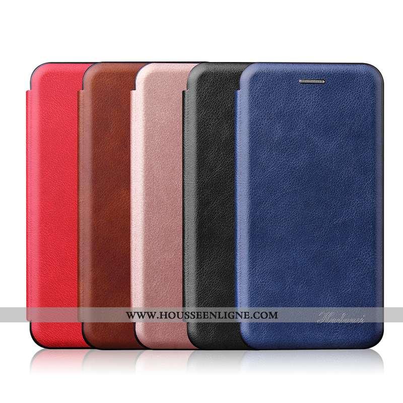 Coque Samsung Galaxy A50 Créatif Ultra Business Incassable Magnétisme Légère Housse Bleu Foncé