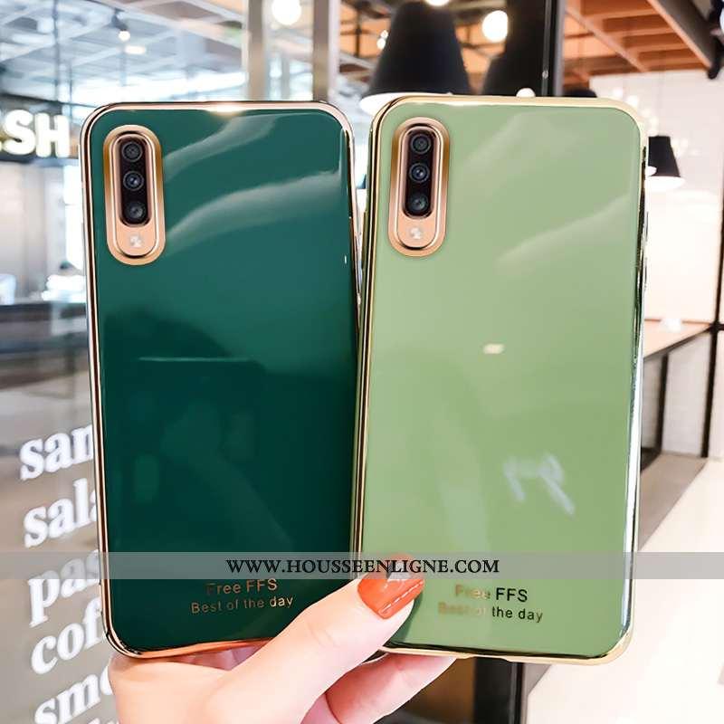 Coque Samsung Galaxy A50 Créatif Ultra Incassable Vert Placage Tout Compris Verte