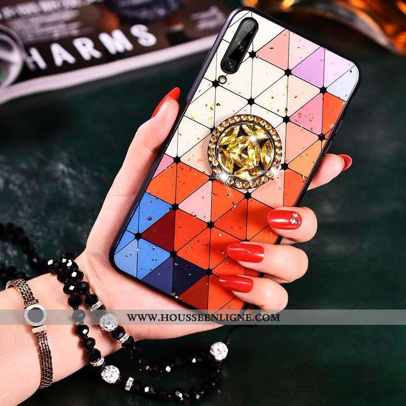 Coque Samsung Galaxy A50 Fluide Doux Silicone Téléphone Portable Europe Rouge Tendance Étoile