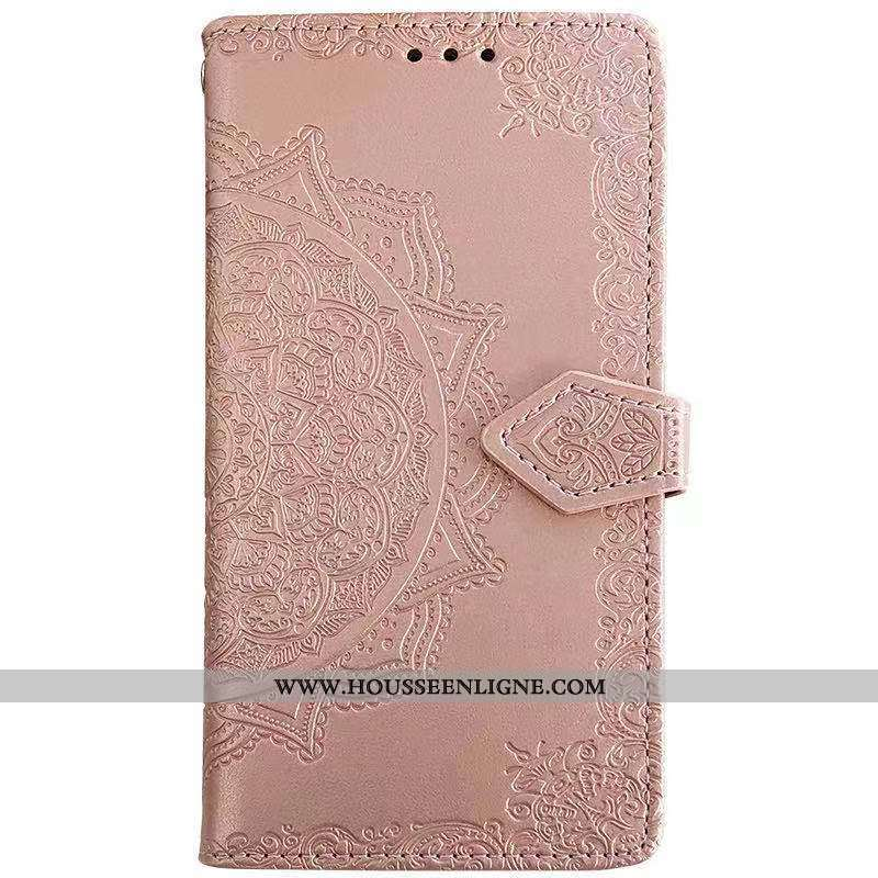Coque Samsung Galaxy A50 Gaufrage Cuir Étui Fluide Doux Peinture Téléphone Portable Ornements Suspen