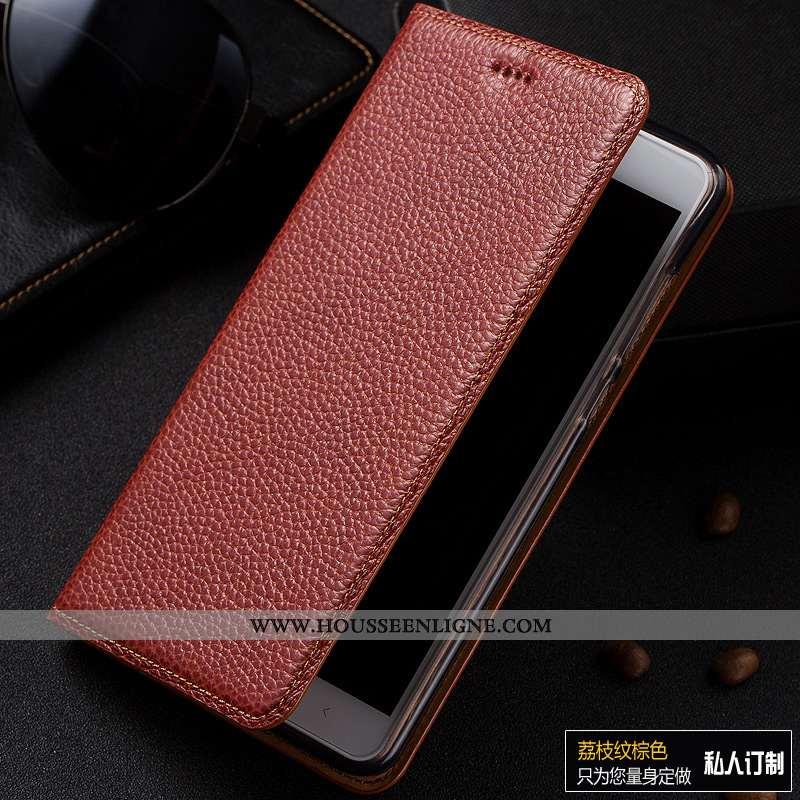 Coque Samsung Galaxy A50 Modèle Fleurie Protection Tout Compris Étoile Litchi Cuir Incassable Marron