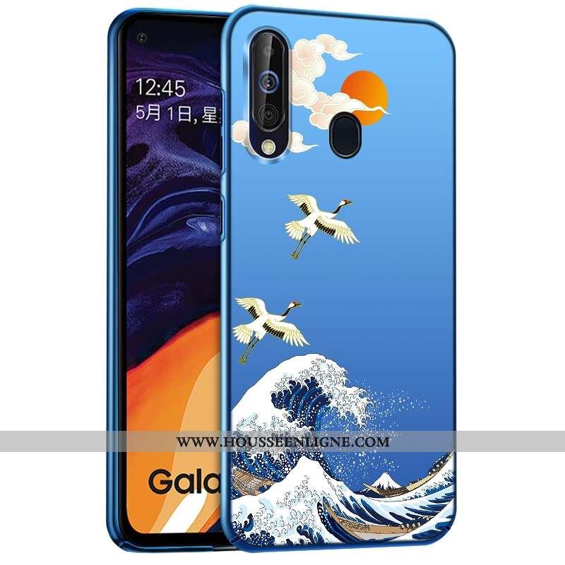 Coque Samsung Galaxy A60 Délavé En Daim Créatif Téléphone Portable Difficile Bleu Étoile