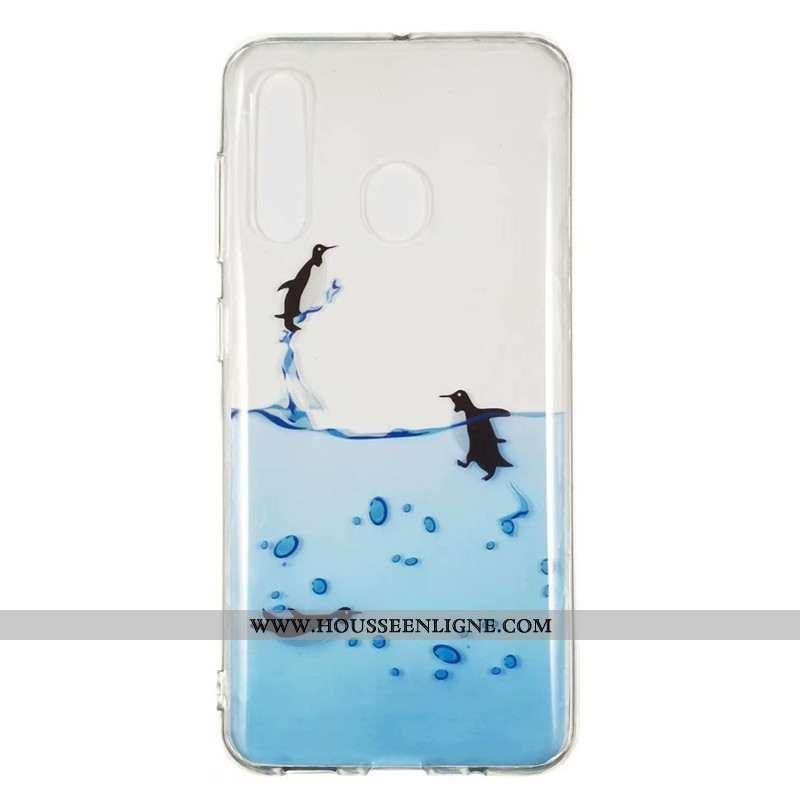 Coque Samsung Galaxy A60 Dessin Animé Fluide Doux Étoile Incassable Téléphone Portable Bleu