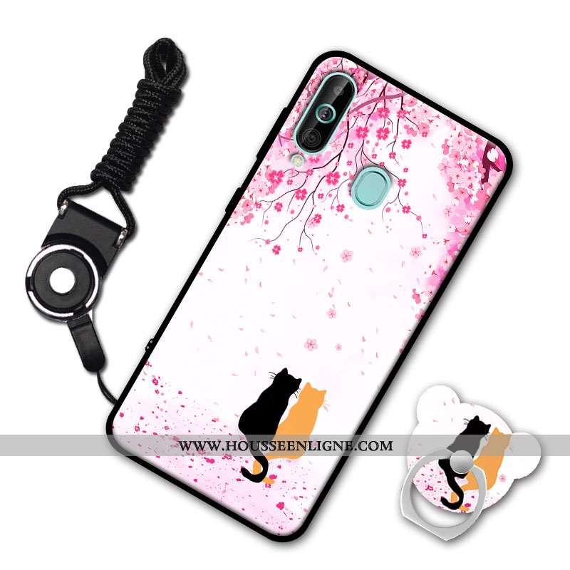 Coque Samsung Galaxy A60 Fluide Doux Étoile Incassable Rose Téléphone Portable